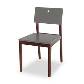 Cadeira Elgin em Madeira Maciça - Cinza