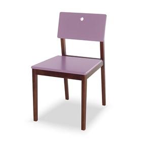 Cadeira Elgin em Madeira Maciça - Lilás