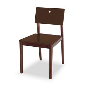 Cadeira Elgin em Madeira Maciça - Marrom
