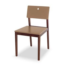 Cadeira Elgin em Madeira Maciça - Marrom Claro