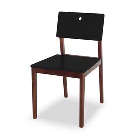 Cadeira Elgin em Madeira Maciça - Preto