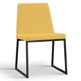 Cadeira Encke C/Pés em Aço Carbono - Amarelo