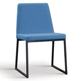 Cadeira Encke C/Pés em Aço Carbono - Azul Jeans
