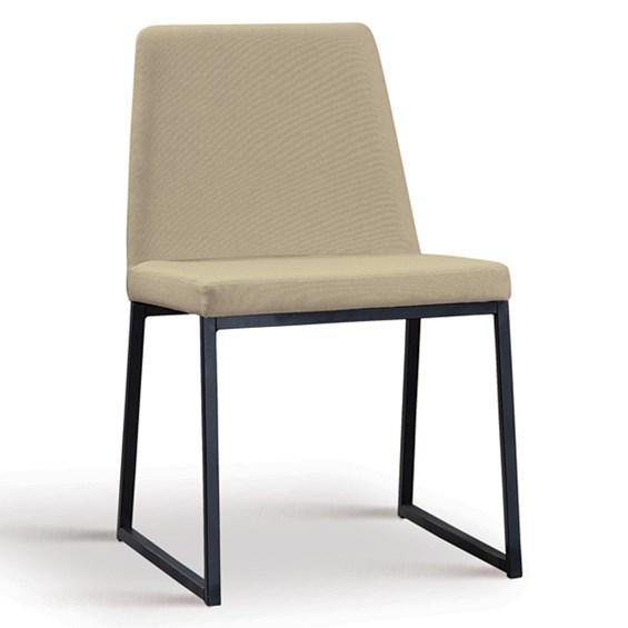 Cadeira Encke C/Pés em Aço Carbono - Bege