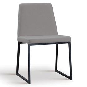 Cadeira Encke C/Pés em Aço Carbono - Cinza