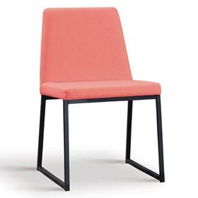 Cadeira Encke C/Pés em Aço Carbono - Coral