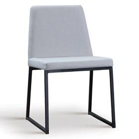 Cadeira Encke C/Pés em Aço Carbono - Gelo