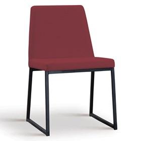 Cadeira Encke C/Pés em Aço Carbono - Marsala