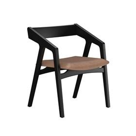 Cadeira Enfield em Madeira Maciça - Preto