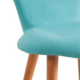 Cadeira Forky C/Pés em Madeira Maciça - Azul Turquesa