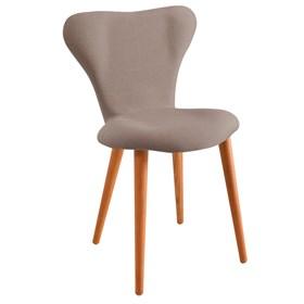 Cadeira Forky C/Pés em Madeira Maciça - Cinza