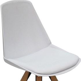 Cadeira Fussen S/Braço em Polipropileno e Madeira