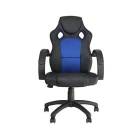 Cadeira Gamer Dabbur em Poliuretano - Preto/Azul