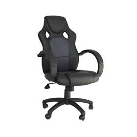 Cadeira Gamer Dabbur em Poliuretano - Preto/Cinza