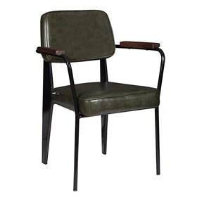 Cadeira George em Couro Ecológico - Verde