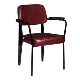 Cadeira George em Couro Ecológico - Vermelho
