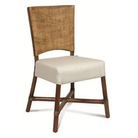 Cadeira Handera S/Braço em Madeira Apuí C/Fibra Rattan
