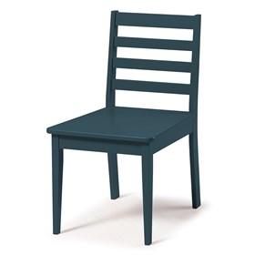 Cadeira Helena em Madeira Maciça  - Azul Marinho