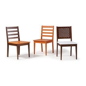 Cadeira Helena em Madeira Maciça  - Cinza