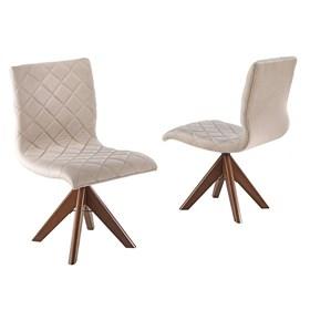 Cadeira Hermanus Fixa em Madeira Maciça