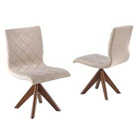 Cadeira Hermanus Giratória em Madeira Maciça