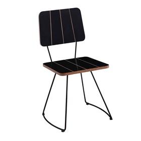 Cadeira Jessie C/Base em Aço Carbono - Preto