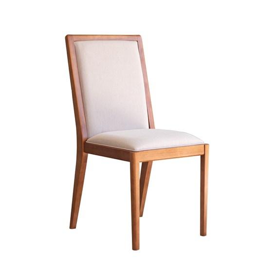Cadeira Lavrine em Madeira Maciça - Champagne