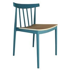 Cadeira Leeds C/Assento em Madeira Laminada Tango - Azul