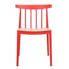 Cadeira Leeds C/Assento em Madeira Laminada Tango - Vermelho
