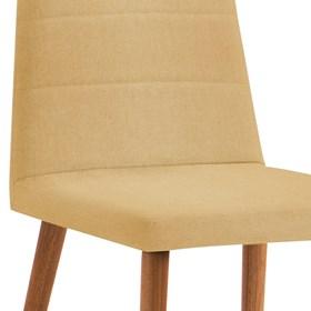 Cadeira Lenny C/Pés em Madeira Maciça - Amarelo