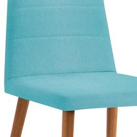 Cadeira Lenny C/Pés em Madeira Maciça - Azul Turquesa
