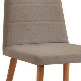 Cadeira Lenny C/Pés em Madeira Maciça - Bege
