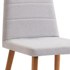 Cadeira Lenny C/Pés em Madeira Maciça - Cinza