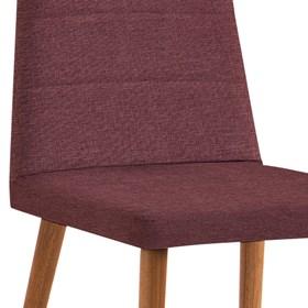 Cadeira Lenny C/Pés em Madeira Maciça - Marsala