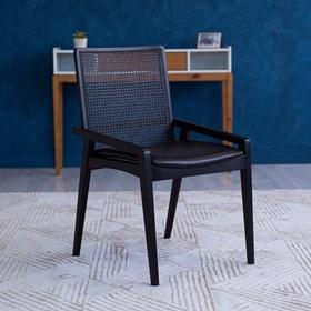 Cadeira Logan em Madeira Maciça C/Tela Preta