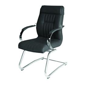 Cadeira Londres Diretor Fixa em Couro PU