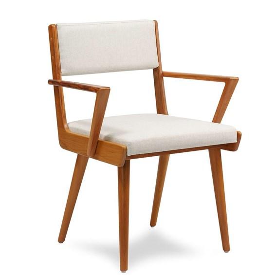 Cadeira Loreto C/Braço em Madeira Maciça