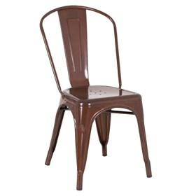 Cadeira Lubeck em Metal - Marrom