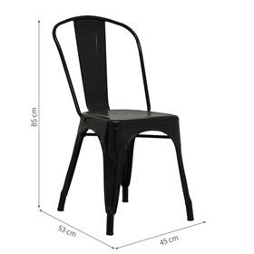 Cadeira Lubeck em Metal - Preto
