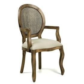 Cadeira Lustef C/Braço Rústica de Madeira Maciça