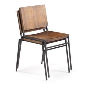 Cadeira Mac Empilhável em Madeira Maciça