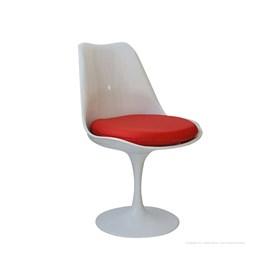Cadeira Mallow S/Braço em Alumínio e Couro