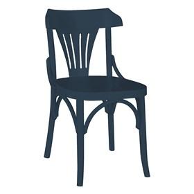 Cadeira Merione em Madeira Maciça - Azul Marinho