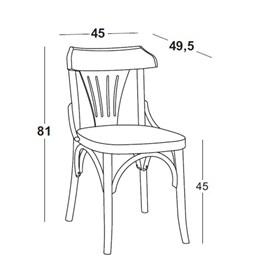 Cadeira Merione em Madeira Maciça - Cinza