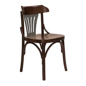 Cadeira Merione em Madeira Maciça - Imbuia/ Cinza