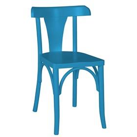 Cadeira Modri em Madeira Maciça - Azul Ágata