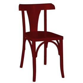 Cadeira Modri em Madeira Maciça - Bordô