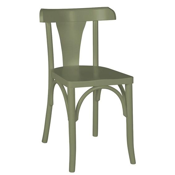 Cadeira Modri em Madeira Maciça - Cinza