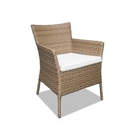 Cadeira Nancy em Alumínio Revestida de Fibras Sintéticas