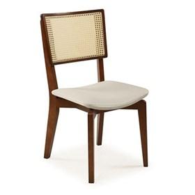 Cadeira Novena em Madeira Maciça e Tela